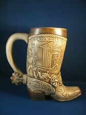 New listing Butch Cassidy & Jesse James Cowboy Boot Commemorative Stein Made In 1981