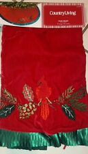 """COUNTRY LIVING Christmas Tree Skirt 48 """"Vintage Holiday"""" RED/GRN  NEW"""