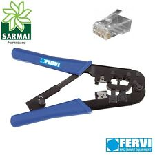 FERVI PINZA CRIMPATRICE PER CRIMPARE CONNETTORE LAN TELEFONO RJ11 RJ12 RJ45