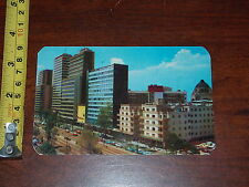 POSTCARD VINTAGE OLD RARE VIEW OF PASEO DE LA REFORMA AT MEXICO CITY MEXICO 1965
