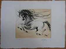 Jean-Marie GUINY : Le cheval galopant # GRAVURE ORIGINALE SIGNEE et N° #