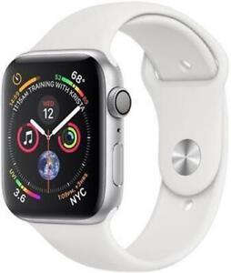 Apple Watch Series 4 44mm Silver White Sports Band Grade A-