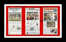 GEORGIA BULLDOGS BEAT OKLAHOMA IN BCS SEMI'S MATTED PIC OF NEWSPAPER FRONT PAGES
