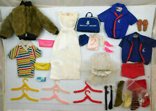 LOT OF VINTAGE 1960's MATTEL BARBIE AND KEN DOLL CLOTHES SHOES ACCESSORIES