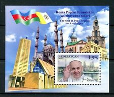 Azerbaijan 2016 MNH Pope Francis Visit 1v M/S Churches Popes Flags Stamps