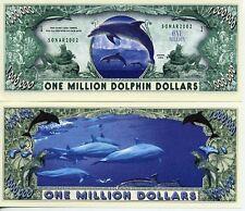 Les DAUPHINS - BILLET 1 MILLION DOLLAR US ! Collection Animaux Cétacés Mer Océan