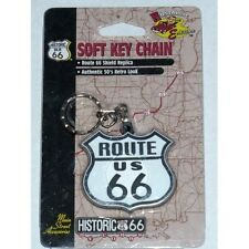 """Route 66 """"Shield Replica"""" Soft Key Chain Cobbs Main St FOB New In Package"""