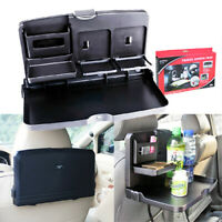 1X Car Dining Table/Travel Food Holder and Tray / Rear Seat, Black