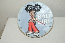 HORLOGE 3D REVEIL SPIRIT BAD GIRL FILLE RAP  RELOJ/CLOCK  NEUF