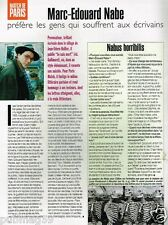 Coupure de Presse Clipping 1998 (1 page) Marc Edouard Nabe