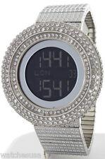 King Master Men's 65ct Lab Made Diamond Full Case & Band Digital Watch GU365