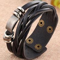 Bracciale Charm braccialetto maschile ecopelle metallo polso accessori uomo