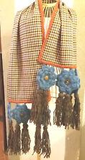Sciarpa/fiori/uncinetto/fatto a mano/crochet/shawl/handmade/Natale/scozzese
