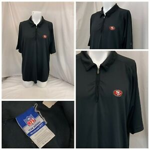 San Francisco 49ers Shirt XL Black Reebok 1/4 Zip Team Issue Cignetti YGI X0-20