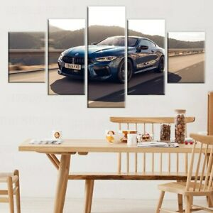 BMW M8 Car 5 Panel Canvas Print Poster Wall Art Home Decor