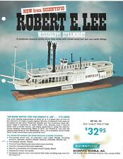 SCIENTIFIC WOOD MODELS INC.ROBERT E LEE STEAMBOAT&SPORT FISHERMAN CATALOG PAGE