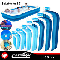 US Family Swimming Pool Summer Inflatable Outdoor Garden Kids Paddling Pools HOT