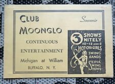 VINTAGE CLUB MOONGLO NIGHT CLUB SOUVENIR-BUFFALO NY AFRICAN AMERICAN SHOWS-PHOTO