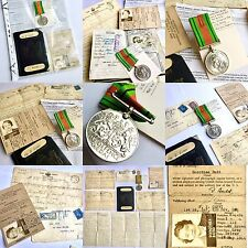 WW2 USA Army Service Forces UK Medal, ID, Passport, Telegrams & Love Letter