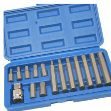 15PC METRIC LONG SHORT 1/2 DRIVE HEX ALLEN ALLAN ALAN WRENCH KEY SOCKET BIT SET""