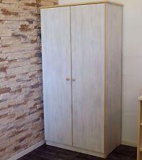 Schrank Kleiderschrank Kinderschrank Babyschrank  18mm weiß grau NEU 2 Türen