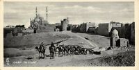 Vintage Egypt Postcard, Cairo, the Citadel, Camels, Panoramic Bookmark Style BF7