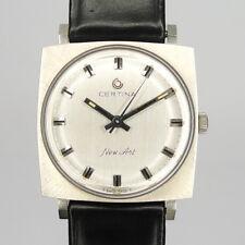"Certina ""New-Art"" Edelstahl Armbanduhr 1970er Jahre -New Old Stock COOLES DESIGN"