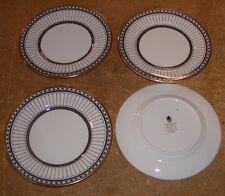 4 WEDGWOOD BONE CHINA ENGLAND COLONNADE BLACK BREAD PLATES W 4340