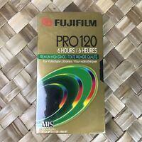 Fuji Pro T-120 Premium High Grade 6 Hour VHS Video Cassette Tape NEW