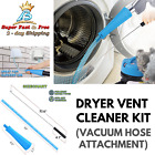 Vacuum Hose And Adapter Attachment Washer Lint Remover Dryer Vent Cleaning Kit  photo