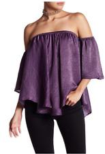 Purple Off the Shoulder Top  - Sz Small