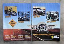HUNTER SPYDER BOBBER DAYTONA CAFE 350 Motorcycle Bike Magazine Advertisement Ad