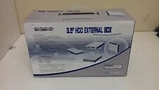 "Aluminium IDE 3.5"" HDD External Caddy Box Enclosure Case USB 2.0 & Card Reader"