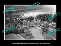 OLD LARGE HISTORIC PHOTO AYLESFORD KENT ENGLAND, AERIAL VIEW OF VILLAGE c1930