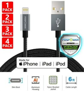 6FT Apple MFI Certified Lightning USB Charging Cable iPhone 11 Pro Max XS 8 Plus