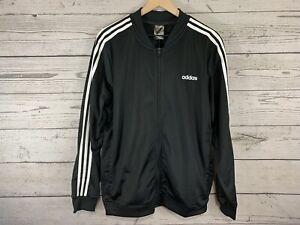 Adidas Black Back To Basics 3-Stripe Track Suit Jacket & Pants Medium NWT DV2448