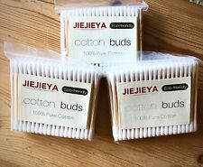 JIEJIEYA® UK's No1 BAMBOO/WOODEN COTTON BUDS BIODEGRADABLE VEGAN/ECO-FRIENDLY