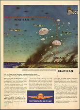 1944 WW2 AD SHELL Aviation Fuel , ART A parachute landing assault 053117