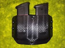 DOUBLE MAG HOLSTER BLACK CARBON FIBER KYDEX FITS FN 5.7 AND 5.7 MK2 FIVE SEVEN