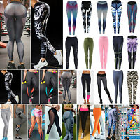 Women's Stretch Yoga Fitness Leggings Gym Running Sports Pants Trousers Exercise
