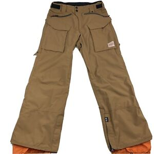 THIRTYTWO Engler Snowboarding Pants Mens Small Clove Khaki Light Brown