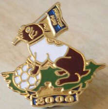 TRANMERE ROVERS 2000 PRENTON PUPS Badge Brooch pin In gilt 25mm x 26mm