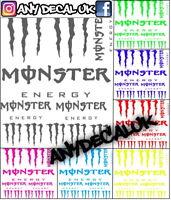 MONSTER STICKERS R1 R6 YZ125 DT125 WR DTX WRF YZF 250 450 DTX KX CR KX125 CR125
