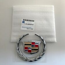 CADILLAC BLS 05-10 FRT GRILLE WREATH CREST BADGE EMBLEM GENUINE GM 25757717 NEW