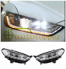 Headlights With LED High Light Sequential Turn Light For 2013-2016 Ford Fusion