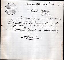"GENOUILLAT (23) MATERIAUX de CONSTRUCTION ""G. PEYROT Fils"" en 1910"
