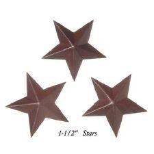 "8 Primitive Rusty Tin Look 2D - Dimensional Barn Stars  ---  1-1/2"""