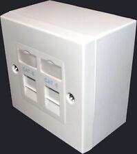 2x cat6 rj45 Double Face Piastra & Backbox (Dual Network 2 Port/presa)