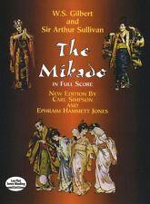 Gilbert Sir Arthur Sullivan The Mikado Full Score Play Orchestra Music Book