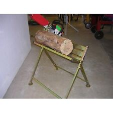 CHAINSAW METAL LOG SAW HORSE WITH CHAINSAW HOLDER FOR SAWING